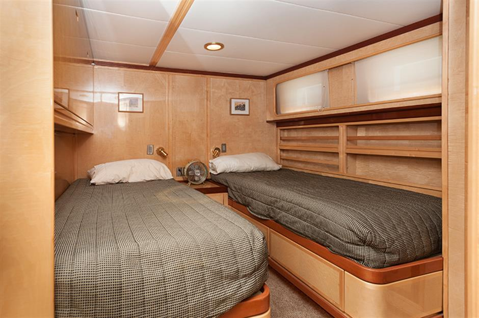 Luxurious cabins and ammenities